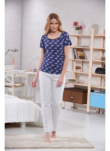 Dantelli Bayan Pijama Takımı Sevim